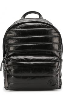 Кожаный рюкзак с внешним карманом на молнии Moncler
