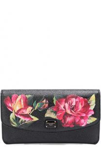 Набор из кожаного портмоне с цветочным принтом и футляров Dolce & Gabbana