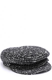 Буклированное кепи с декоративной отделкой Eugenia Kim