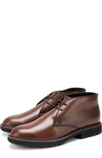 Кожаные ботинки на шнуровке с внутренней меховой отделкой Tod's Tods