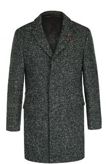 Однобортное шерстяное пальто Baldessarini