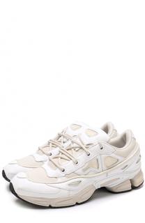 Кожаные кроссовки Ozweego III с текстильными вставками Adidas by Raf Simons
