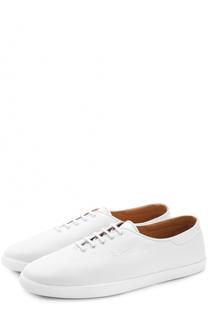 Кожаные кеды с логотипом бренда на шнуровке The Row