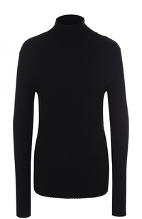 Однотонный шерстяной свитер фактурной вязки Ralph Lauren