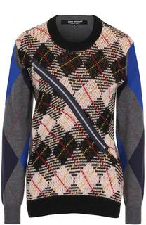 Шерстяной пуловер с круглым вырезом Junya Watanabe