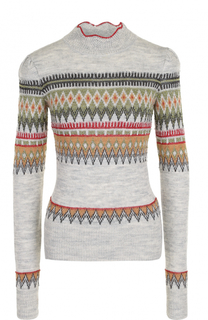 Шерстяной свитер с принтом Isabel Marant Etoile