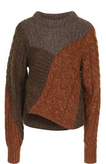 Пуловер фактурной вязки с круглым вырезом Isabel Marant Etoile