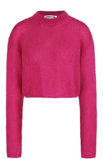 Укороченный шерстяной пуловер с круглым вырезом MCQ