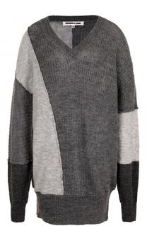 Удлиненный пуловер свободного кроя с V-образным вырезом MCQ