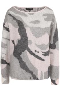 Вязаный пуловер с круглым вырезом и принтом Rag&Bone Rag&Bone