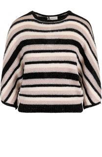 Пуловер в полоску с разрезом на спинке Lanvin