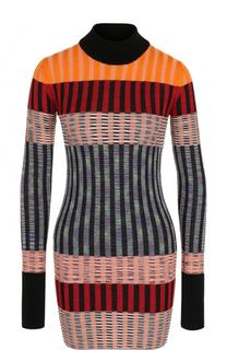 Шерстяное облегающее мини-платье Missoni