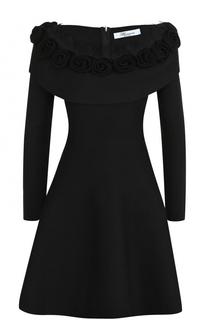 Приталенное мини-платье с длинным рукавом Blumarine