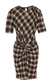 Шерстяной мини-платье с драпировкой Isabel Marant Etoile