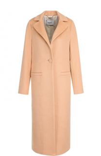 Однотонное пальто прямого кроя на пуговице Blugirl