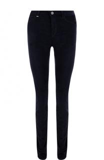 Однотонные бархатные джинсы-скинни BOSS