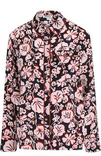 Шёлковая блуза прямого кроя с принтом Kenzo