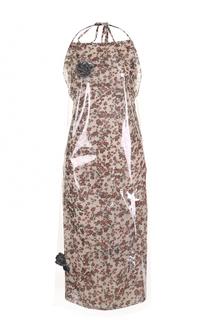 Платье-миди с открытой спиной и цветочным принтом CALVIN KLEIN 205W39NYC
