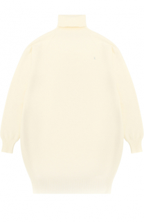 Трикотажное мини-платье с высоким воротником Kuxo Cashmere