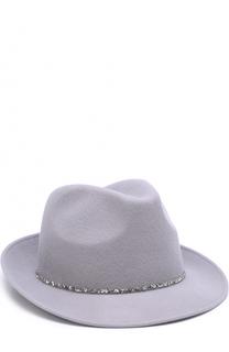 Шерстяная шляпа с отделкой из страз Eugenia Kim