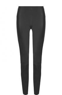 Однотонные кожаные брюки-скинни By Malene Birger