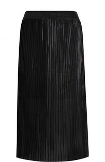 Однотонная плиссированная юбка-миди By Malene Birger