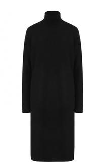 Шерстяное платье-миди прямого кроя с воротником-стойкой By Malene Birger