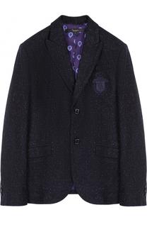 Однобортный пиджак с вышивкой Billionaire