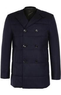 Утепленная шерстяная куртка на пуговицах с подстежкой Montecore