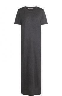 Однотонное платье-футболка свободного кроя Acne Studios