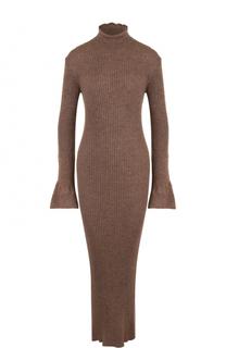 Шерстяное платье с открытой спиной и воротником-стойкой Acne Studios