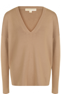 Вязаный пуловер с V-образным вырезом MICHAEL Michael Kors