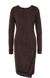 Приталенное платье-миди с леопардовым принтом MICHAEL Michael Kors