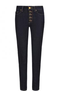 Однотонные джинсы прямого кроя с контрастной прострочкой MICHAEL Michael Kors