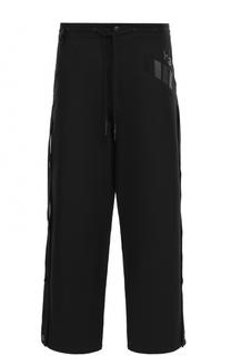 Хлопковые брюки свободного кроя с поясом на кулиске Y-3