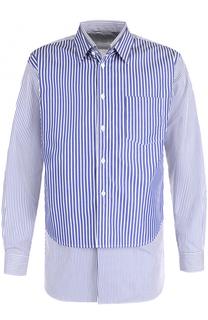 Хлопковая рубашка свободного кроя с отделкой Comme des Garcons