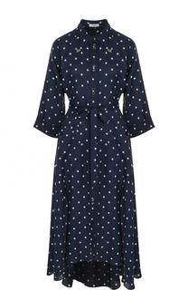 Платье-рубашка с поясом и принтом в виде звезд Nina Ricci
