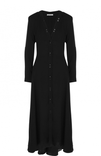 Приталенное платье-миди с V-образным вырезом Nina Ricci