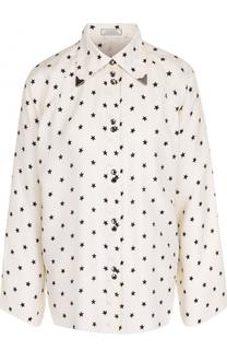 Блуза свободного кроя с принтом в виде звезд Nina Ricci