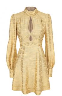 Мини-платье с воротником-стойкой и длинным рукавом Marc Jacobs