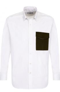 Хлопковая рубашка свободного кроя Ami