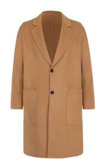 Однобортное пальто свободного кроя из смеси шерсти и кашемира Ami