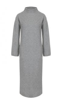 Кашемировое платье-миди с высоким воротником Loro Piana