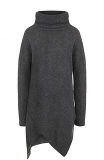 Шерстяной свитер свободного кроя с высоким воротником Yohji Yamamoto