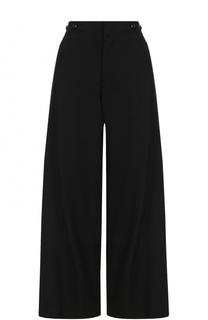 Шерстяные расклешенные брюки с карманами Yohji Yamamoto