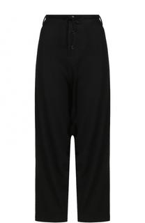 Шерстяные брюки с заниженной линией шагового шва Yohji Yamamoto
