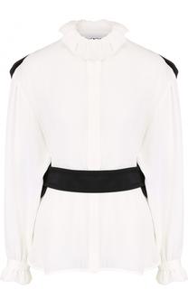 Блуза свободного кроя с контрастной отделкой на спинке Balenciaga