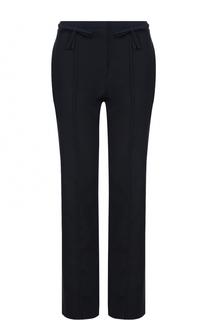 Шерстяные брюки прямого кроя со стрелками Valentino