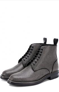 Кожаные ботинки William с заклепками Saint Laurent