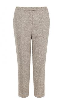 Укороченные шерстяные брюки со стрелками Escada